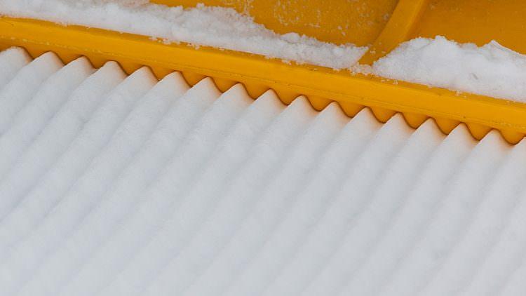 уплотнение снега вблизи