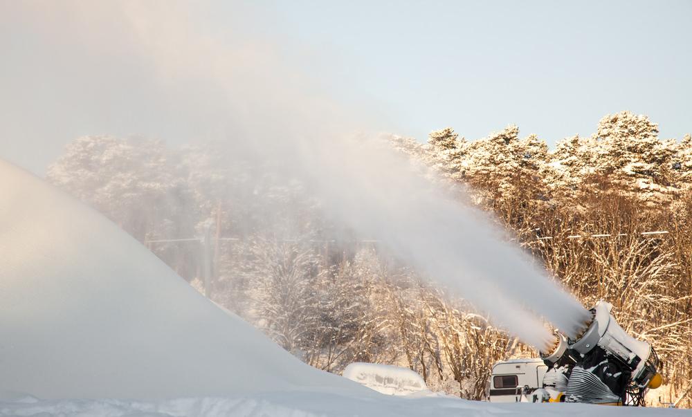 В Химках строят полностью искусственную лыжную трассу