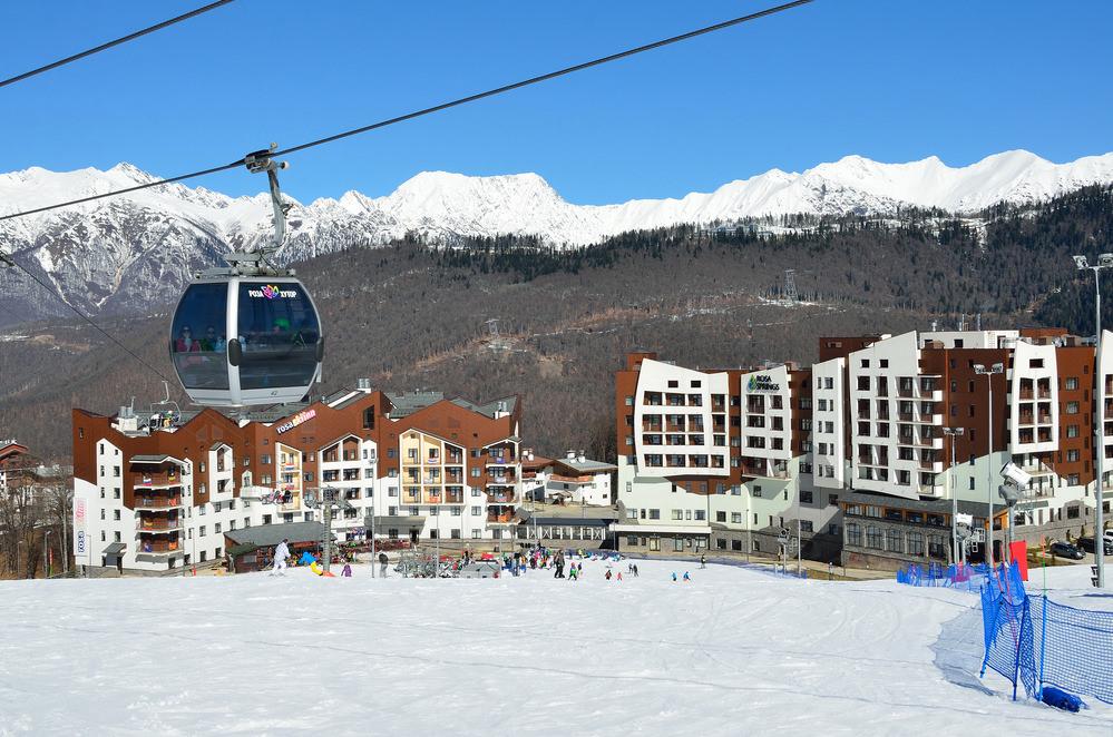 В горах близ Сочи открылся горнолыжный сезон