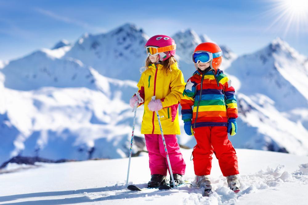 Детишки на лыжах