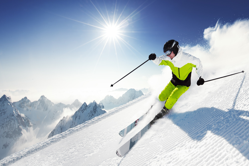 Крутой маневр на лыжах