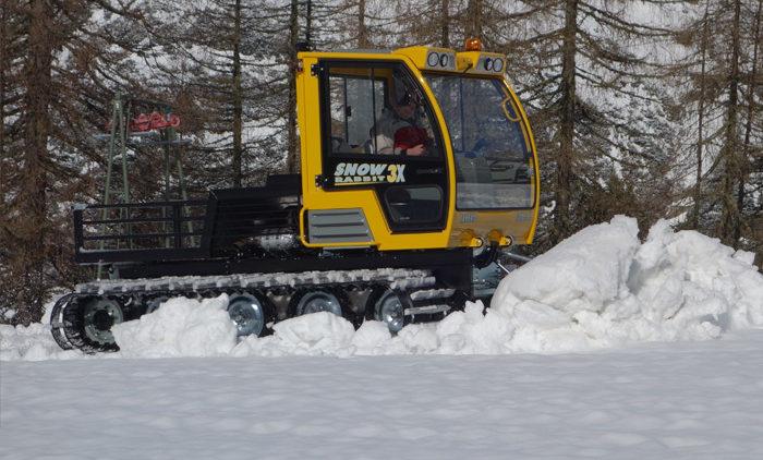 rabbit 3x расчищает лыжню