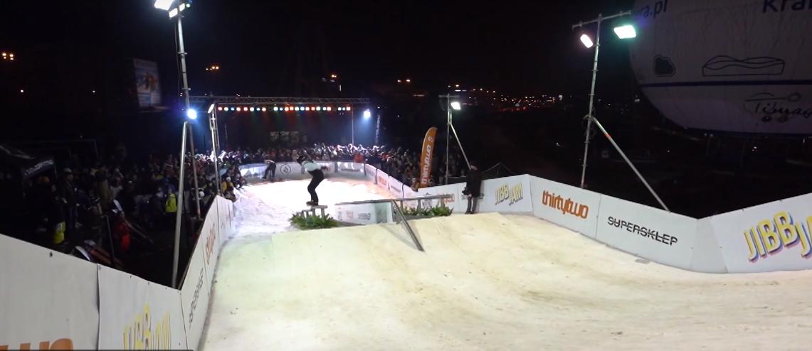 Соревнования по сноуборду в центре города